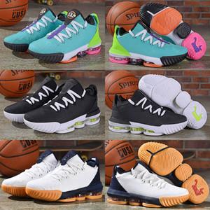 2019 Yeni 16 XVI Düşük Hiper Yeşim Siyah Python Erkekler Basketbol Ayakkabıları James 16 s Elektrikli Yeşil Toplam Turuncu Beyaz Tasarımcı 16 Erkek Eğitmenler