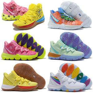 새로운 Kyrie 무엇 5 보관할 고소 신선한 오리온 벨트 훈련 캠프 노란색 농구 신발 높은 quakity Kyrie5 어린이 여성 남성 스포츠 스니커즈