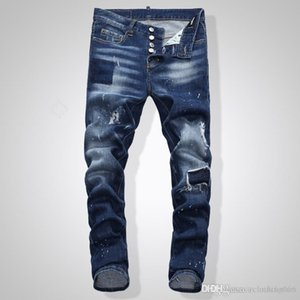 2020 new fashion mens designer jeans ripped luxury Italy brand Denim Slim Fit jeans Hip Hop Motorcycle Pants mens designer jeans Size 28-40