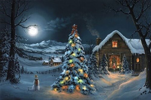 Jesse Barnes THE SPIRIT OF CHRISTMAS Home Decor Handpainted &HD Print Oil Paintings On Canvas Wall Art Pictures 200706