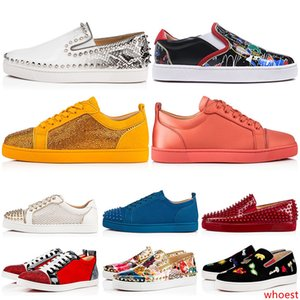 Nuovo Progettista di marca Spikes Studded Piatto Scarpe Casual Low Cut Mens rivetti Delle Donne Outdoor Sneakers 35-47