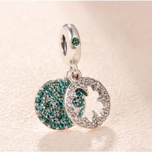 Fit Pandora 925 collar de cuentas de plata esterlina Lucky clover beads charms celet colgante DIY brocado carpa cuentas amor collar pulsera joyas