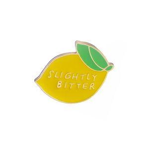 Slightly Bitter Lemon Pins Brooches Badges Hard Enamel Pins Fashion Accessory Cute Kawaii Food Pins Jewelry For Women Girl