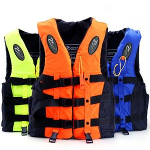 Adult Life Vest Jacket Polyester Swimming Boating Ski Surfing Survival Drifting Life Vest with Whistle Water Sports Man Jacket
