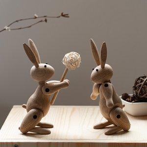 coelho puppetThe dinamarquesa fantoche de madeira nórdica Home Furnishing ornamentos atacado personalizado macio decorações sala de amostra decoração em madeira