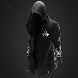 Hombres Deportes Casual Wear sudaderas marea de la moda chaqueta con capucha Casual Wear Ropa Chaqueta con capucha maestro asesino Streetwear
