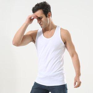 Algodão Regatas cueca homens Undershirt Sportswear camisas Masculino respirável Bodyshaper fitness sólida Vest Shirt Plus Size 3XL