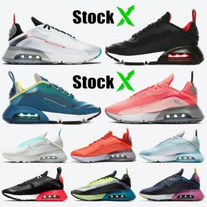 Nike Air max 2090 stock x Top Kalite Kadın Erkek koşu ayakkabı B30 Beyaz Siyah Yetiştirilen Yeşil Pembe Erkek eğitmenler spor sneakers
