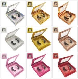 Pestañas de visón 3D Pestañas de visón sintéticas Pestañas postizas gruesas naturales suaves con embalaje cuadrado Extensión de pestañas de ojos Herramientas de belleza GGA2472