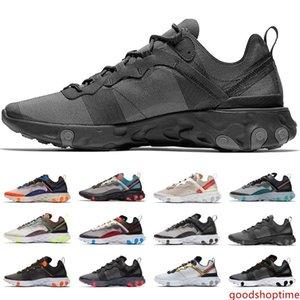 React Element 55 87 running shoes men women white black blue Desert Sand mens designer breathable sports sneakers cheap online sale