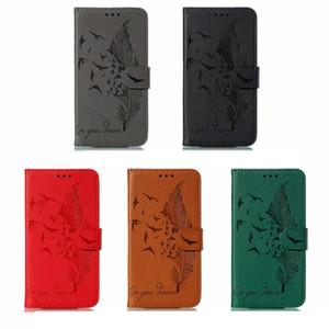 Кожаный бумажник чехол для Samsung S20 S20 Ультра Плюс A10S A20S M30S A70S A51 A71 перо птицы Leechee Luxury Cash Card Slot Держатель откидная крышка