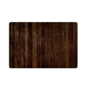 Brown rústico viejo granero de madera oscura Puerta alfombras de baño cubierta de cocina decoración Alfombra Mat felpudo de bienvenida