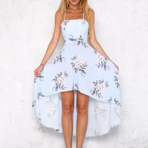 Seksi Uzun Plaj Elbise Kadınlar Backless Çiçek Baskılı Kadın Straplez İnce Elbise Moda Tatil Vestidos Verano Maxi Dresse # 59