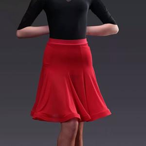 New Woman Latin Dance Skirt Fishbone Tango Costume Training Dress Performance Wears Sexy Rumba Samba Dance Skirt for Women Girl