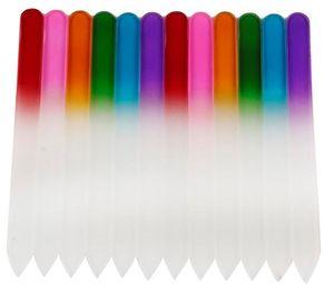 Renkli Cam Tırnak Dosyaları Dayanıklı Kristal Dosya Tırnak Tampon NailCare Manikür UV Lehçe Aracı için Tırnak Sanat Aracı