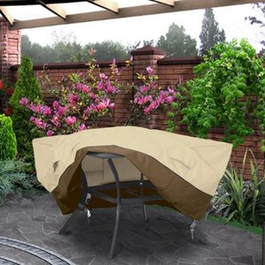 Patio Furniture Cover Durable Outdoor Garden Chair Sofa Cover Waterproof Dust Sun Protection Oxford Cloth Drawstring Table