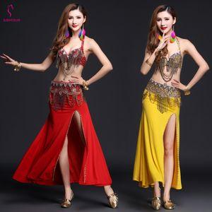 Belly Dance Costume Belly Dance Top Bra Gonna Abito Set Bollywood Abiti orientali egiziani Donne adulte di alta qualità