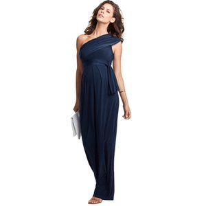 Mother's Day One Shoulder Long Formal Evening Gowns For Pregnant Women Elegant Maternity Dress Office Lady Party Vestidos S-XXXL