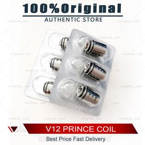 100% V12 authentique prince Bobines tête T10 X6 Q4 M4 bande Mesh double Triple Max Mesh X2 Remplacement de base pour Clapton V12 Prince-réservoir