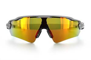 Gafas de sol de la moda de los hombres de bicicletas pulido Gafas de sol de ciclo Diseñador Hombre Marca bici del deporte de Eyewear con el caso