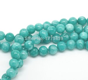 Free Shipping Wholesale 4 6 8 10 12mm Natural Blue Amazonite Round loose stone jewelry Beads agat Beads 15