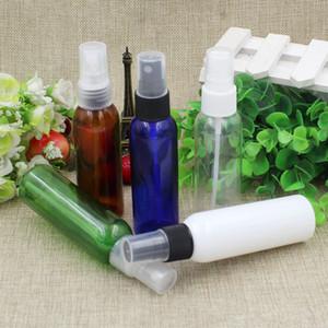 30pcs 60ml Perfume Cosmetic Plastic Garrafa de Spray Maquiagem recarregáveis Mulheres Água Pulverizador Containers Clear Blue Branco Verde Brown