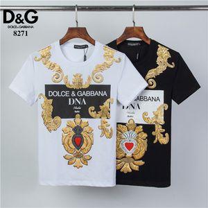 T-shirts à manches courtes vêtements designer américain T-shirt rayé Hommes d'été Mode Broderie Designer