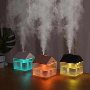 Mist umidificatore con USB Fan per luce principale camera da letto del bambino ad ultrasuoni Premium Mini umidificatore Diffusori senz'acqua spegnimento automatico RRA2823