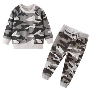 Camouflage Boys Clothing Sets Children Winter Clothes Baby Boys Sweatshirts Pants Infant Outfit Kids Clothes Suit Tracksuits T200707