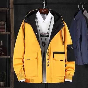 Womens ceketler Palto Gevşek Sonbahar Kış Pardesü Moda Hip Hop Kapşonlu Erkek Kadın Harf Baskılı Yeni Üstler