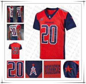 Custom 2020 XFL Houston Houston Football Jersey P.J. Walker Butler De'Angelo Henderson Andre Williams Cam Phillips Lewis Mobley cousu 4xl