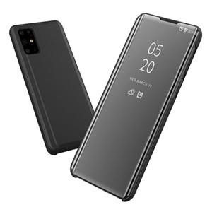 S20 Espelho Caso Clear View Electroplate Virar capa para Samsung Galaxy S20 Ultra caso do S20 + Phone Case S20 Além disso Coque