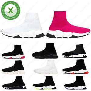Merletto del progettista calza scarpe casual Speed Trainer Nero Rosso triple nero di marca dei calzini modo caricamenti del sistema mette in mostra Sneaker Trainer scarpa 36-45
