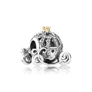 Authentic 925 Sterling Silver Abóbora Car Charms Logo caixa Original para Pandora Pulseira Encantos Grânulos Europeus para fazer jóias