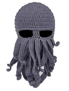 2018 Unisex Octopus Knitted Wool Ski Face Masks Event Party Halloween Knitted Hat Squid Cap Beanie Cool Gifts Mask