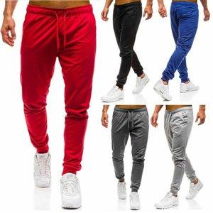 Uomini Uomini di sport pantaloni pantaloni lunghi della tuta di allenamento fitness jogging Palestra Pantaloni sportivi casual Trekking Pants