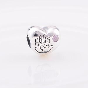 Authentisches 925 Sterlingsilber-Korn-Baby / Boy Charm Charms Passt Europäische Pandora Style Schmuck Armbänder Halskette 791280PCZ