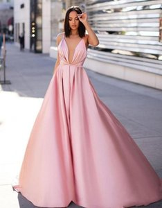 Custom Pink A-line Prom Evening Dresses Long Spaghetti Backless Formal Party Gown Plus Size Pageant Bridesmaid Dresses