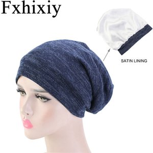 New Unisex Women Men's Satin Liner Turban Hat Cancer Chemo Beanies Cap Headwear Headwrap Hair Loss Cover