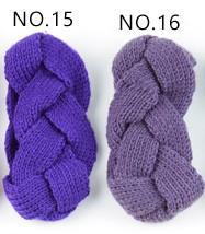 bleu violet mazarine élastique à tricoter bande de cheveux à la main de laine fil bandeau accessoires pour chaud automne et d'hiver Cheveux Bandes