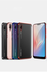 For Huawei P20 Lite P20 Pro Case Transparent Plating TPU for Huawai P20 Lite Plus free shipping hot sell new 2019 wholesale oem high quality