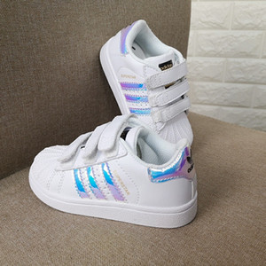 New Shell cabeça menino meninas Sneakers Superstar crianças Kids Shoes sapatos de desporto couro smith tênis correndo novo sapatos stan moda