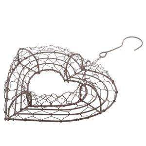 Romantische Eisen Heart Frame Draht Kranz Saftige Pot Hochzeits-Dekoration 14cm