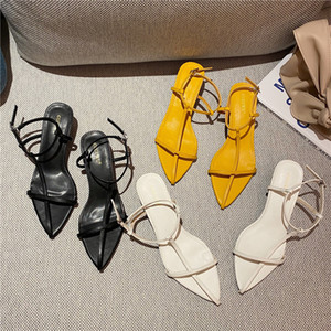 Summer new design pointed sandals fashionable and versatile thin strap Roman women's shoes