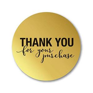 """Rund Gold """"DANKE für Ihren Einkauf"""" Sticker Siegel-Etiketten 500 Etiketten Aufkleber Scrapbooking für Paket Briefpapier Aufkleber"""