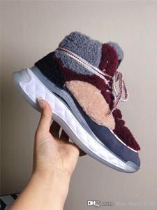 Automne et hiver dernière édition de sport chaussures Panda, aménagee fourrure d'agneau perle exclusive délicate et belle bottes baskets plat