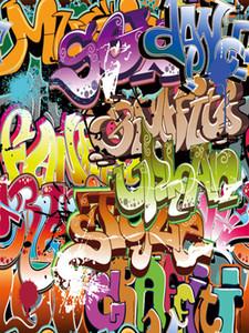 Color Graffiti pared vinilo fotografía Backdrops Seamless personalizado Photo Booth fondos para fiesta de cumpleaños Studio Props