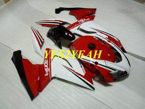 Kit de carroçaria de injecção para Aprilia RS125 06 07 08 09 10 11 RS 125 2006 2011 Carenagem branca vermelha carroçaria AA12