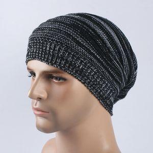 Sparsil Hommes Femmes Double Couleur tricotée Caps Automne Hiver Bonnet chaud Pile CAMOUFLER skullies Chapeaux élastique coupe-vent Hat