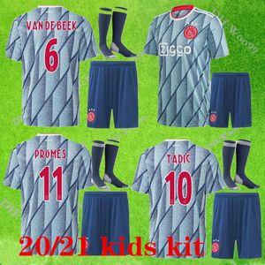 2020 2021 Ajax pull-over de football kits enfants 2020 maison van de Beek uniformes garçons chemise maillot de football Huntelaar Ziyech Schone ACCUEIL